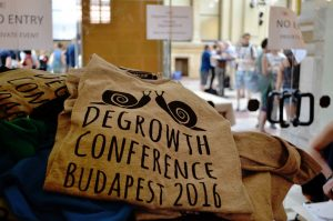 T-Shirt Degrowth Conference Budapest 2016